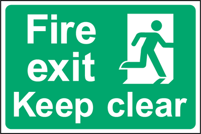 Fire Exit Keep Clear Sign - Printed Agility