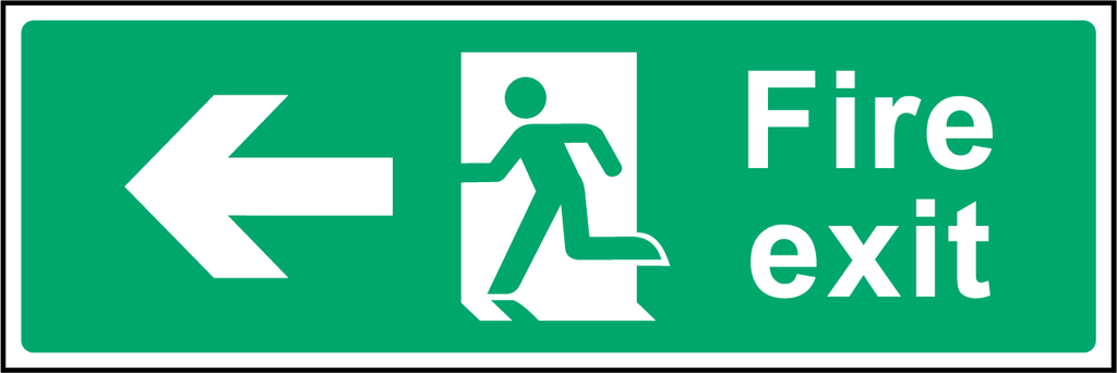 Fire Exit (Left) Sign - Printed Agility