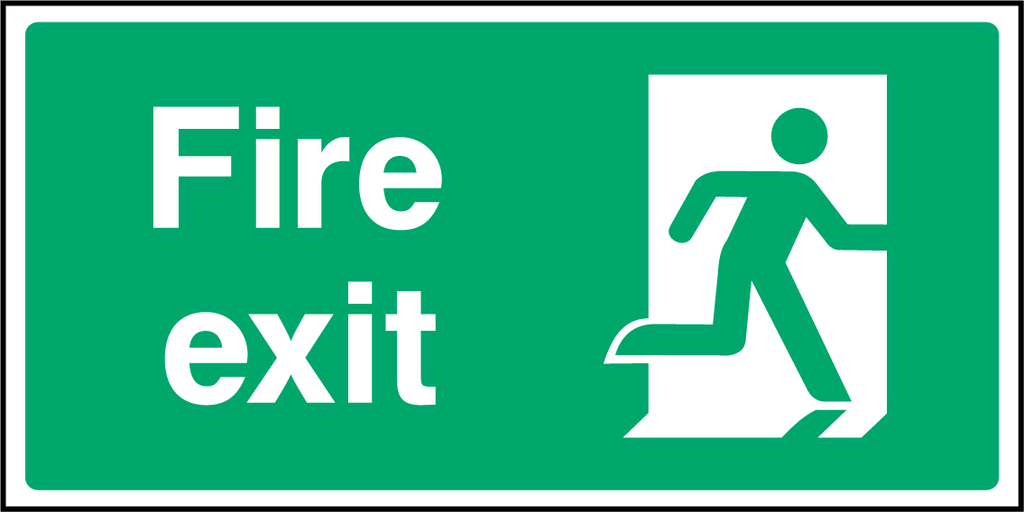Fire Exit (Right) Sign - Printed Agility
