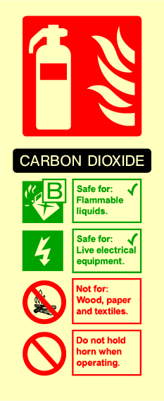 Fire Extinguisher (Carbon Dioxide) Sign - Printed Agility
