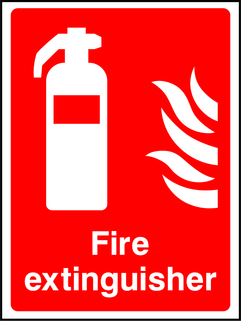 Fire Extinguisher Sign - Printed Agility