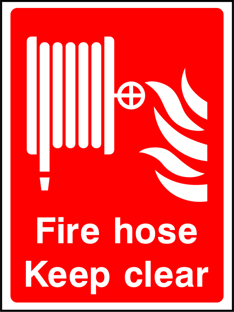 Fire Hose Keep Clear Sign - Printed Agility