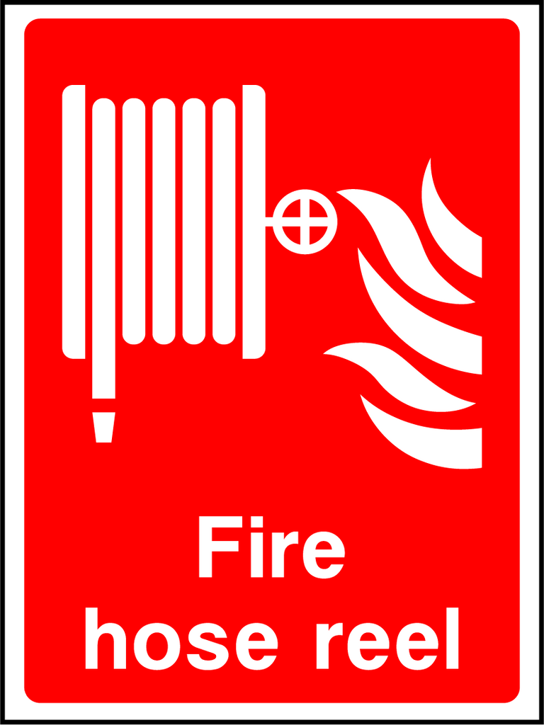 Fire Hose Reel Sign - Printed Agility