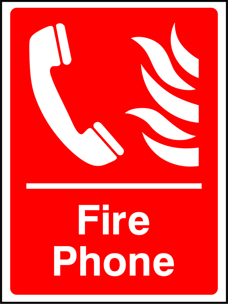 Fire Phone Sign - Printed Agility