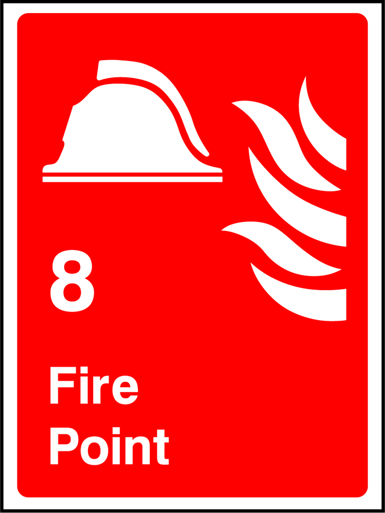 Fire Point Sign - Printed Agility