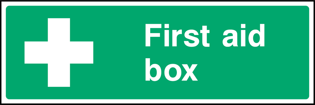 First Aid Box Sign - Printed Agility