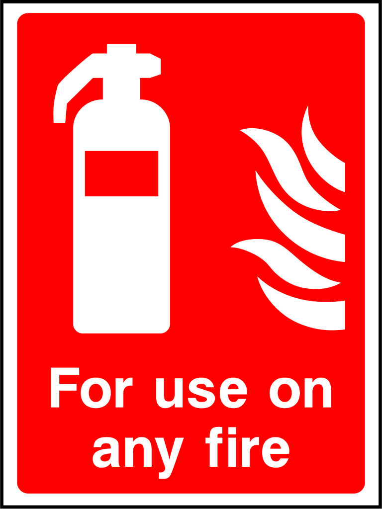 For Use On Any Fire Sign - Printed Agility