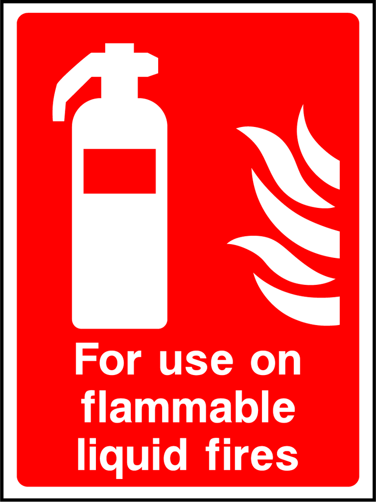 For Use On Flammable Liquid Fires Sign - Printed Agility