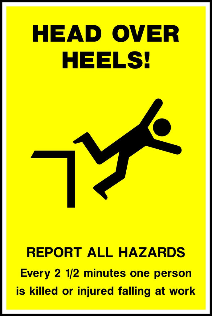 Head Over Heels Safety Poster - Printed Agility