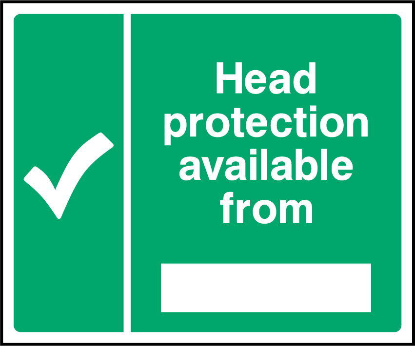 Head Protection Is Available From Sign - Printed Agility