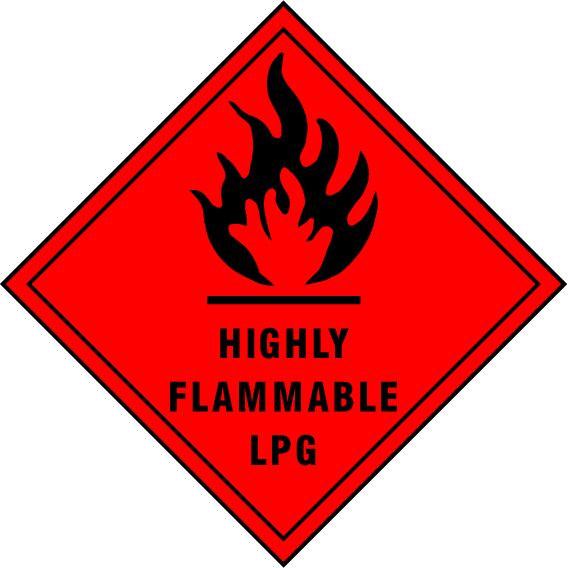 Highly Flammable LPG Sign - Printed Agility