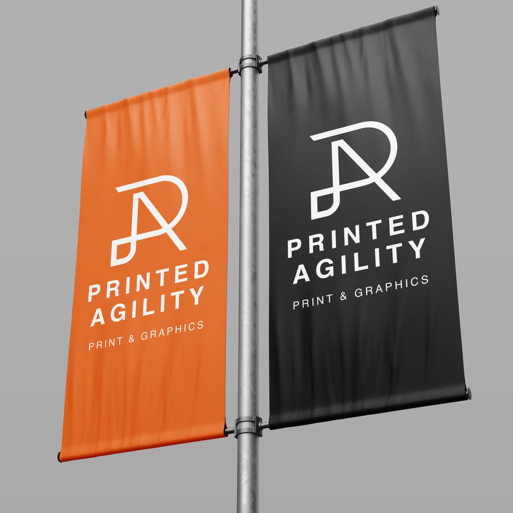 Lamp Post Banner - Printed Agility