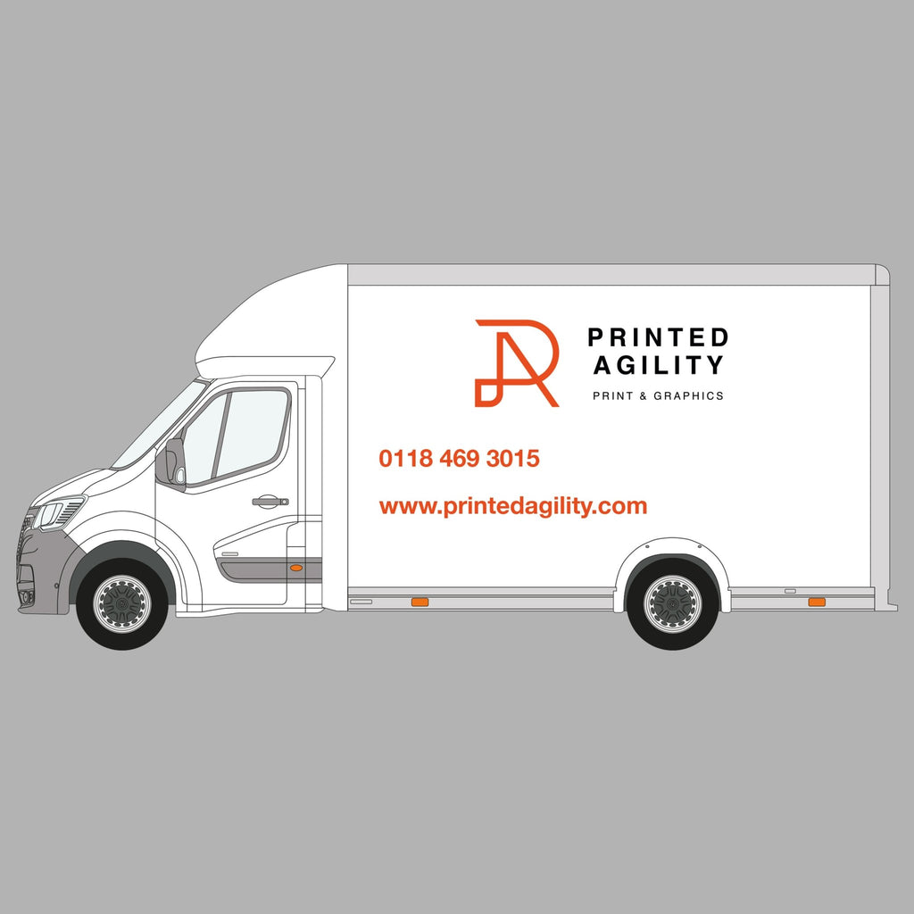 Luton / Box Van Sign Writing - Printed Agility