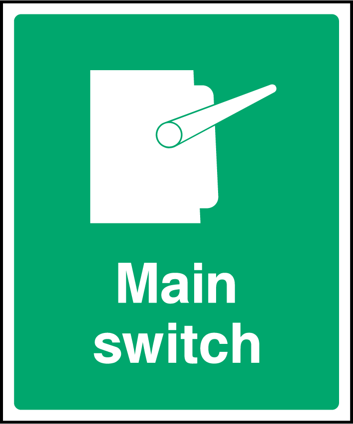 Main Switch Sign - Printed Agility
