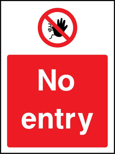 No Entry Sign - Printed Agility