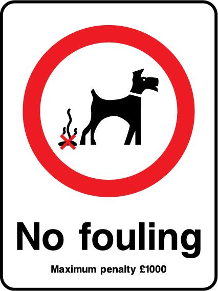No Fouling Maximum Penalty £1000 Sign - Printed Agility