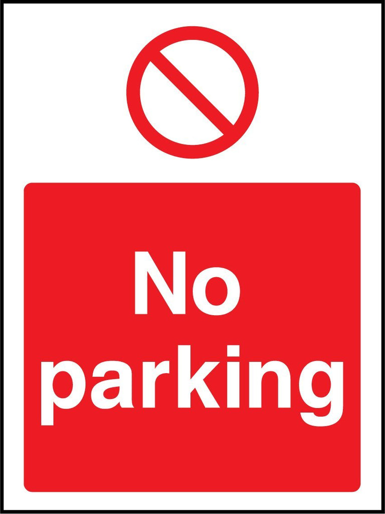 No Parking Sign - Printed Agility