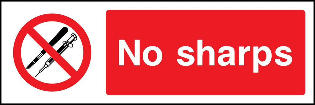 No Sharps Sign - Printed Agility