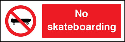No Skateboarding Sign - Printed Agility