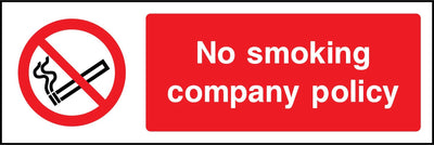 No Smoking Company Policy Sign - Printed Agility