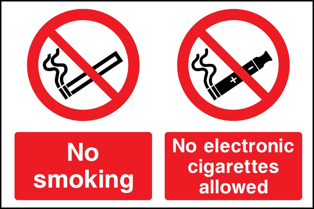 No Smoking, No Electronic Cigarettes Allowed Sign - Printed Agility