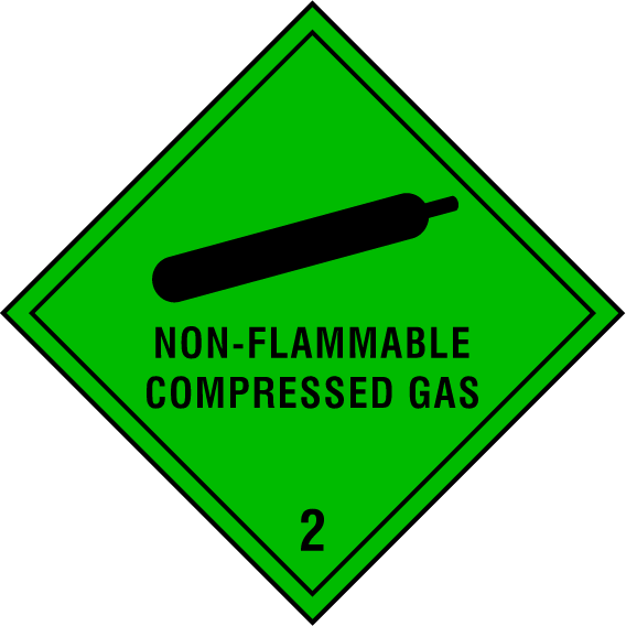 Non-Flammable Compressed Gas Sign - Printed Agility