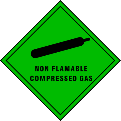 Non Flammable Compressed Gas Sign - Printed Agility
