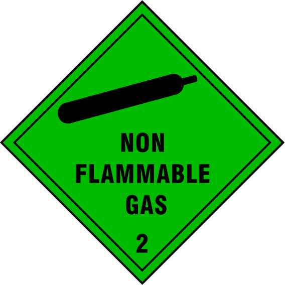 Non Flammable Gas Sign - Printed Agility