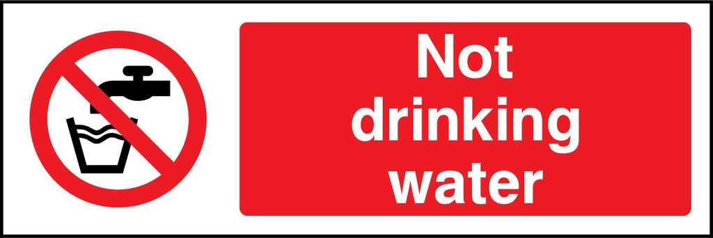 Not Drinking Water Sign - Printed Agility