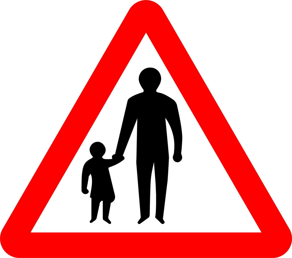 Pedestrians In Road Ahead Sign - Printed Agility
