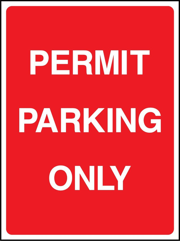 Permit Parking Only Sign - Printed Agility