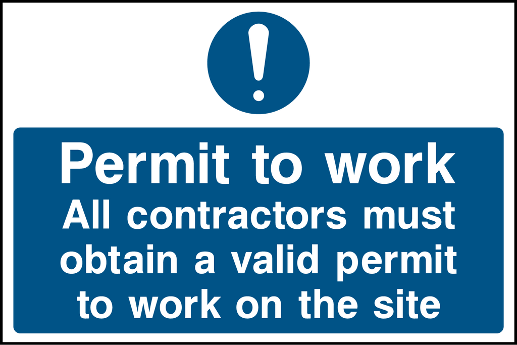 Permit To Work Sign - Printed Agility
