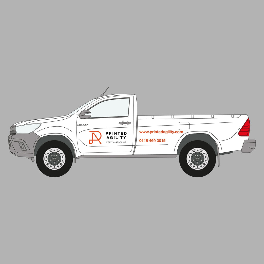 Pickup Truck Sign Writing - Printed Agility