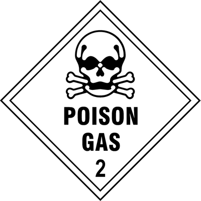 Poison Gas Sign - Printed Agility