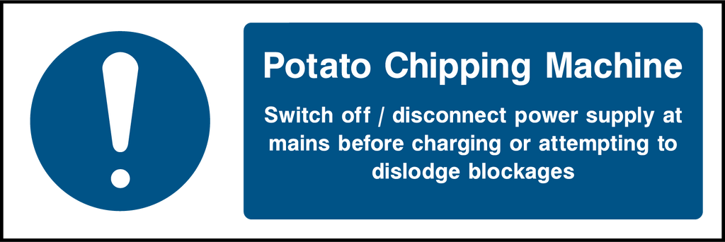 Potato Chipping Machine Sign - Printed Agility