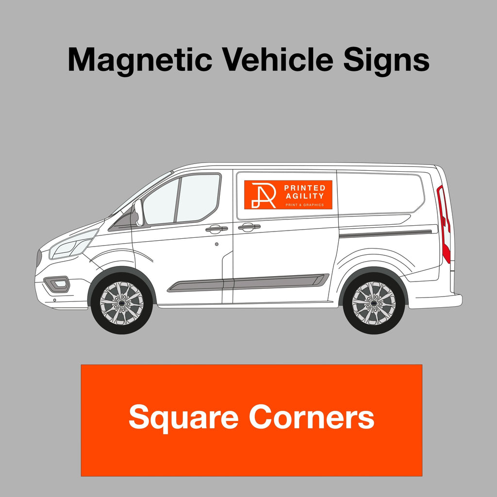 Premium Magnetic Vehicle Signs - Printed Agility