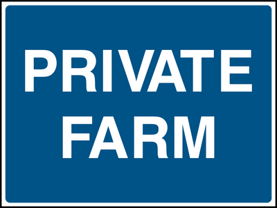 Private Farm Sign - Printed Agility