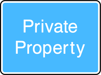 Private Property Sign - Printed Agility