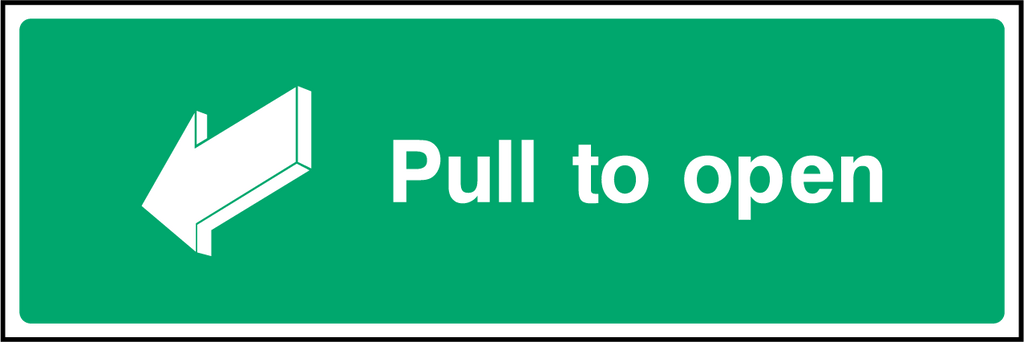 Pull To Open Sign - Printed Agility