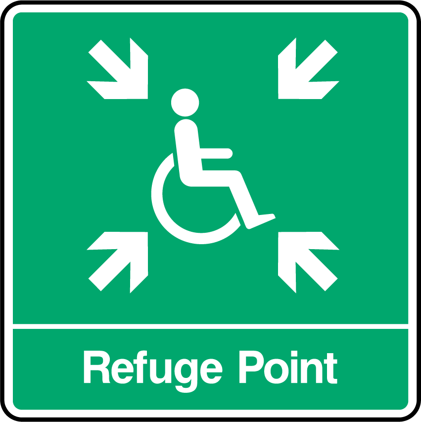 Refuge Point (ARROWS) Sign - Printed Agility