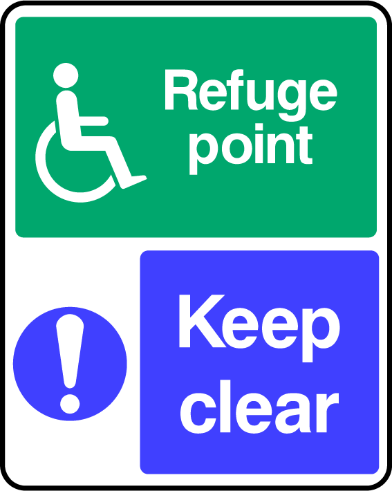 Refuge Point Keep Clear Sign - Printed Agility