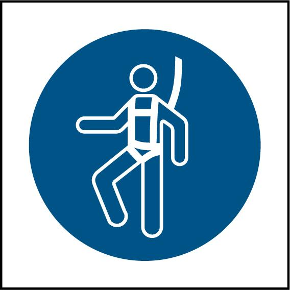 Safety Harness Symbol Sign - Printed Agility