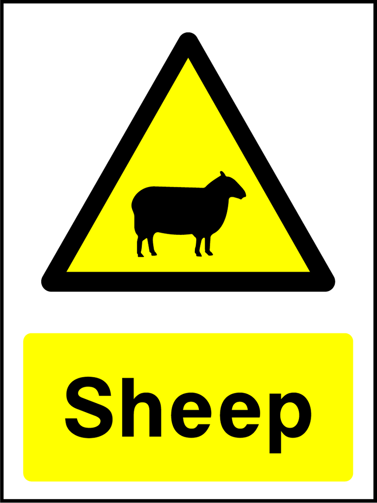 Sheep Sign - Printed Agility