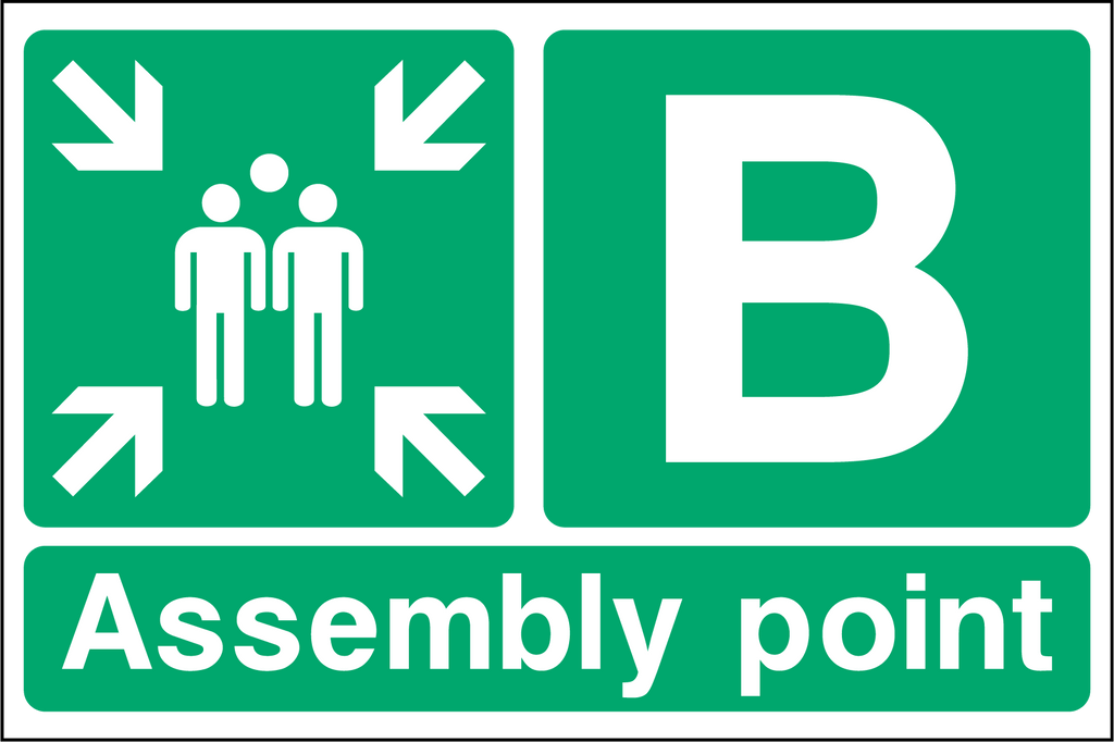 Special Assembly Point B Sign - Printed Agility