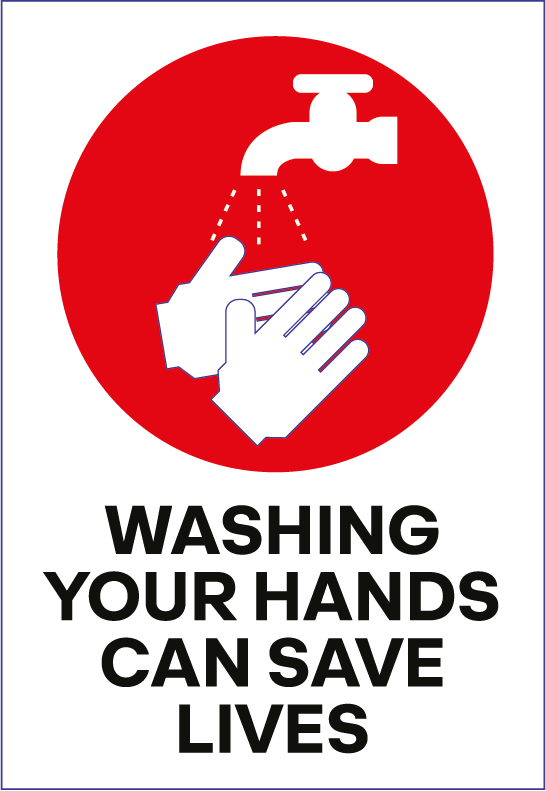 Wash Your Hands Sign - Printed Agility