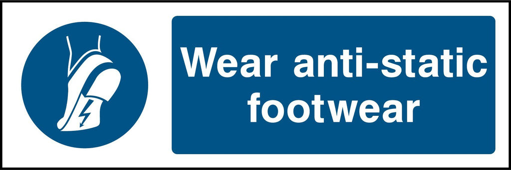Wear Anti-Static Footwear Sign - Printed Agility