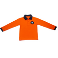 Unisex Orange Short-sleeve Polo