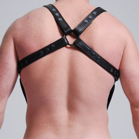 H Harness With Attached Cock-Ring Extension