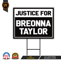 Justice For Breonna Taylor Yard Sign