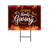 Happy Thanks Giving Yard Sign